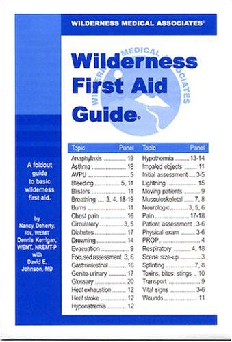 9780970464620: Wilderness Medical Associates Wilderness First Aid Guide