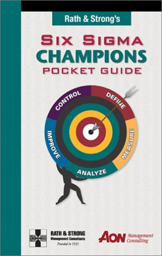 9780970507938: Rath & Strong's Six Sigma Champions Pocket Guide