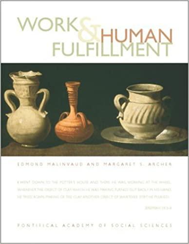Work and Human Fulfilment (Hardback): Edmond Malinvaud, Margaret Scotford Archer
