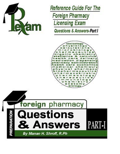9780970793140: Reference Guide for Foreign Pharmacy Licensing Exam Questions and Answers, Part 1