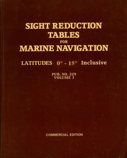 9780970801036: Sight Reduction Tables for Marine Navigation (Pub 229 ...