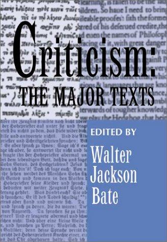 9780970803504: Criticism: The Major Texts