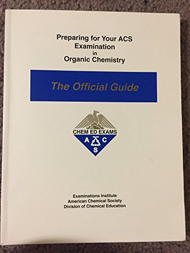 Preparing for Your ACS Examination in Organic: Eubanks, I. Dwaine;
