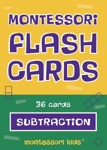 9780971229846: Montessori Flash Cards Subtraction Basic