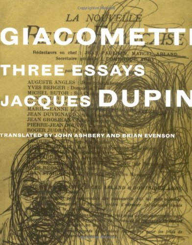 Giacometti: Three Essays: Dupin, Jacques