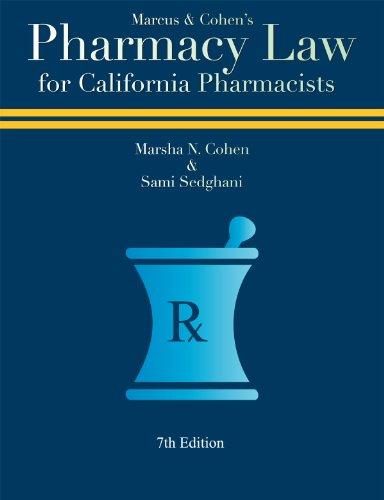 9780971373440: Pharmacy Law for California Pharmacists