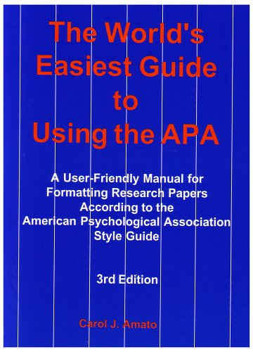 9780971375666: The World's Easiest Guide to Using the Apa: A User-Friendly Manual for Formatting Research Papers According to the American Psychological Association Style Guide