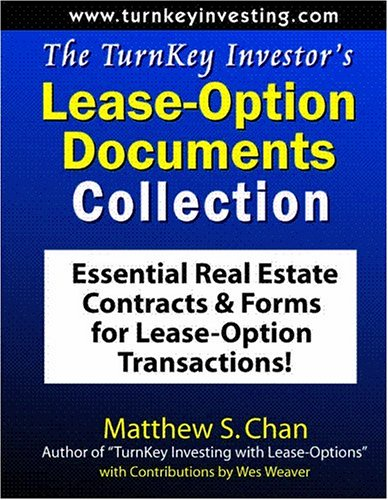 The TurnKey Investor's Lease-Option Documents Collection: Essential Real Estate Contracts &amp...