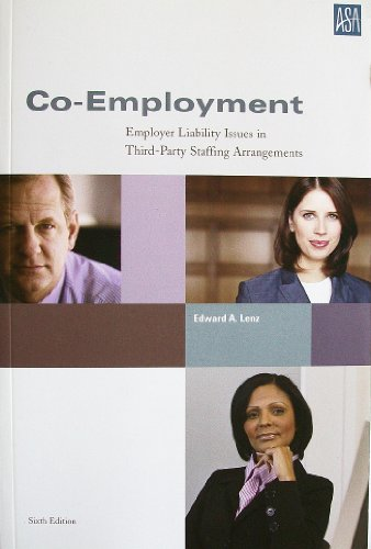 9780971430617: Co-Employment: Employer Liability Issues in Third-Party Staffing Arrangements