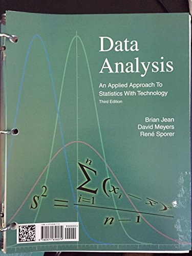 9780971656093: Data Analysis an Applied Approach to Statistics with Technology (Third Edition)