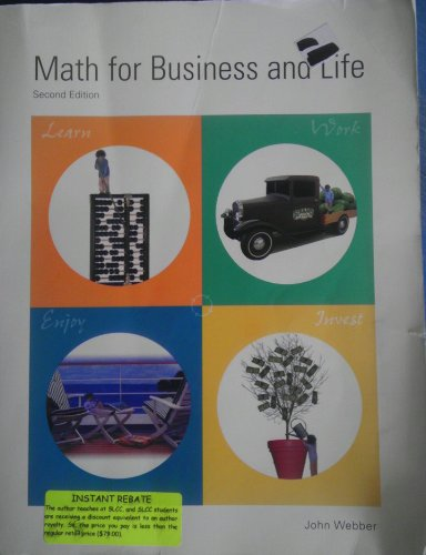 9780971680906: Math for Business and Life