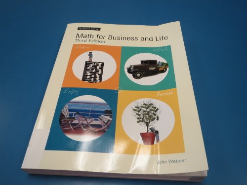 9780971680975: Math for Business and Life Teacher's Edition