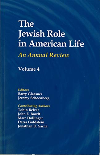 9780971740006: The Jewish Role in American Life: An Annual Review, Volume 1