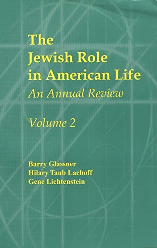 9780971740013: Jewish Role in American Life: An Annual Review, Volume 2