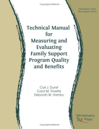 9780971831179: Technical Manual for Measuring and Evaluating Family Support Program Quality and Benefits
