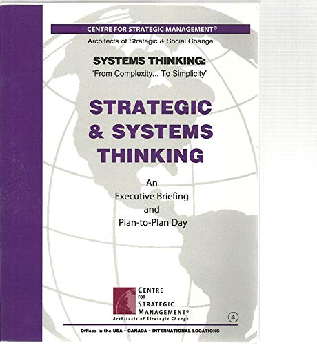 9780971915954: Strategic & Systems Thinking