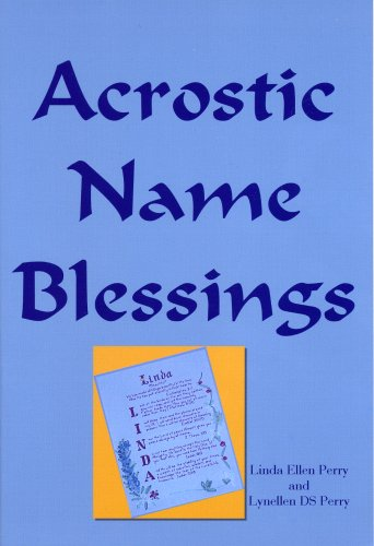 9780972011105: Acrostic Name Blessings: Creating A Lifelong Inspiration
