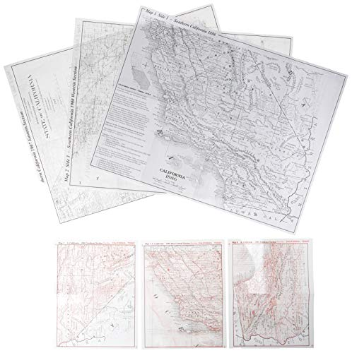 California, South Ghost Towns 6 Maps Then: Northwest Distributors