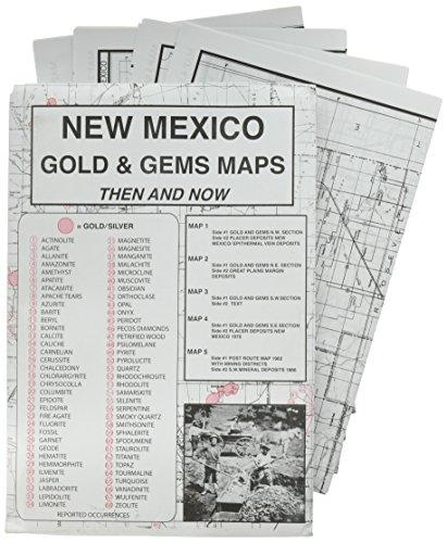 New Mexico, Gold & Gems, Map Set Then & Now: M.L Preston