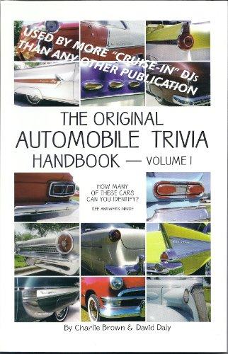 9780972075800: The Original Automobile Trivia Handbook - Vol 1