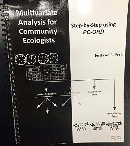 9780972129022: Multivariate Analysis for Community Ecologists: Step-by-Step using PC-ORD