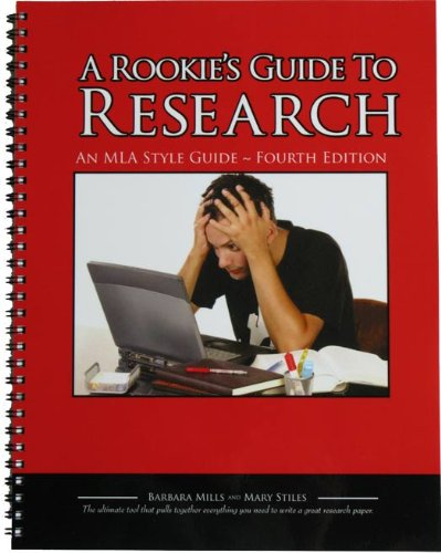 9780972140430: Rookie's Guide to Research An MLA Style Guide