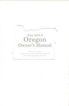 9780972161800: The SOLV Oregon Owner's Manual