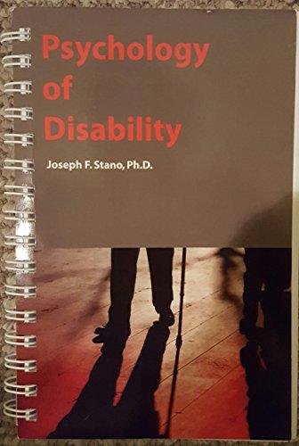 9780972164245: Psychology of Disability