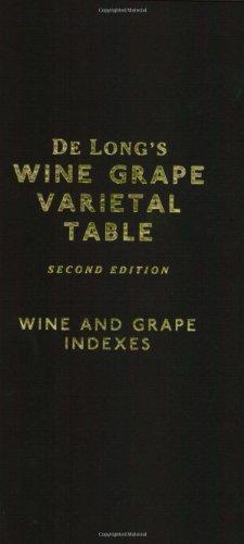 9780972363211: De Long's Wine Grape Varietal Table