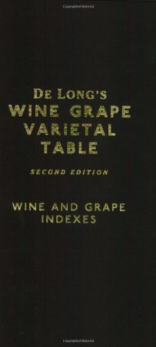 De Long's Wine Grape Varietal Table: Deborah De Long; Steve De Long