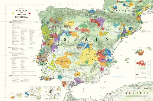 9780972363242: Wine Map of The Iberian Peninsula (Spain and Portugal)