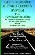 9780972402682: Quick & Simple Record Keeping for Owner/Operators