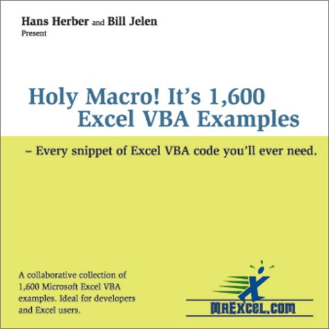 9780972425810: Holy Macro! It's 1,600 Excel Vba Examples