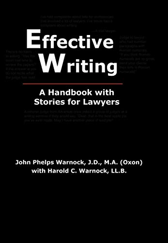 9780972477246: Effective Writing: A Handbook with Stories for Lawyers