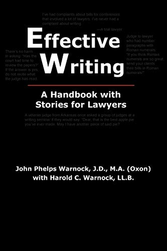 9780972477277: Effective Writing: A Handbook with Stories for Lawyers