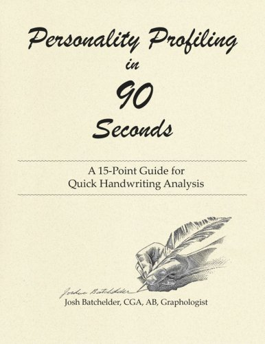 9780972519786: Personality Profiling in 90 Seconds