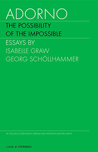 9780972680639: Adorno: The Possibility of the Impossible (2 Volumes) (English and German Edition)