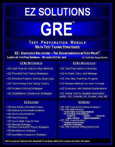 9780972779029: Ez Solutions GRE Test Preparation Module Math Test Taking Strategies: Ez Gre Math Test Taking Strategies