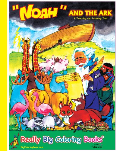 Noah and the Ark Giant Super Jumbo Coloring Book: ColoringBook.com, Really Big Coloring Books