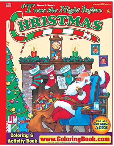 9780972783316: 'Twas the Night Before Christmas Really Big Coloring Book