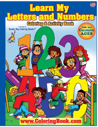 9780972975315: ABC-123 Learn My Letters and Number Giant Super Jumbo Coloring Book (18 x24)