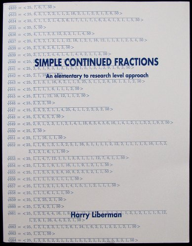 9780973260700: Simple Continued Fractions: An Elementary to Research Level Approach