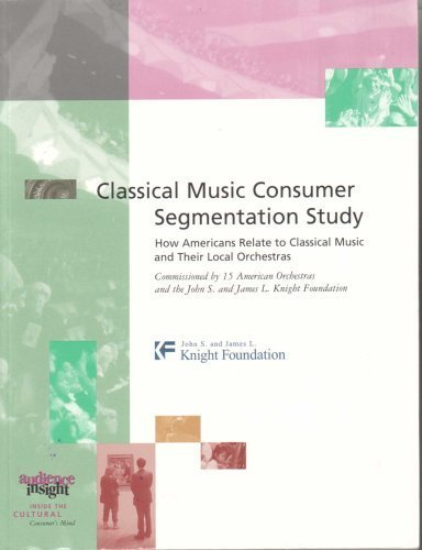 9780974074801: Classical Music Consumer Segmentation Study : How Americans Relate to Classical Music and Their Local Orchestras