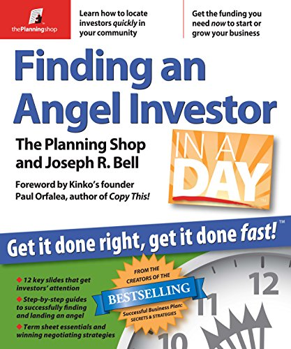 Finding an Angel Investor in a Day: Planning Shop; Joseph