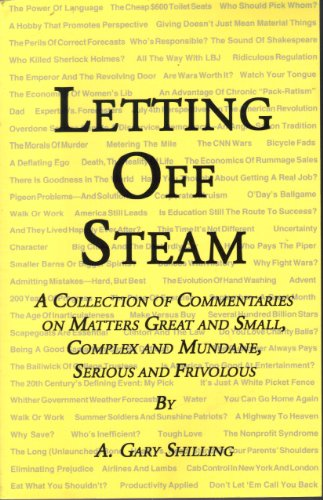 9780974087108: Letting Off Steam: A Collection of Commentaries on Matters Great and Small, Complex and Mundane, Serious and Frivolous
