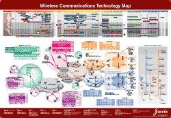 9780974094595: Wireless Communications Technology Map
