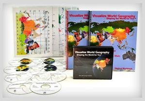 9780974140162: Visualize World Geography - Complete Set with Dvds, Maps and Workbooks