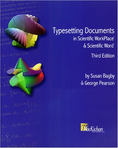 9780974165271: Typesetting Documents in Scientific WorkPlace® and Scientific Word®, Third Edition