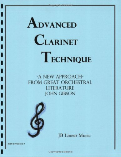 9780974254203: Advanced Clarinet Technique