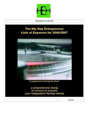 9780974531373: Hip Hop Entrepreneur Lists of Exposure